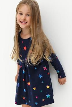3119f401817f 20220200199 Платье детское для девочек Etra темно-синий