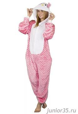 Заказать. Пижама Кигуруми Hello Kitty   Арт. K-019 b8a88c7abe1a3