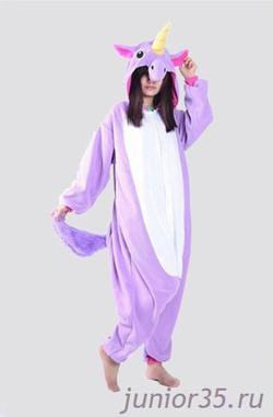 Заказать. Пижама Кигуруми Фиолетовый единорг   Арт. K-034 0d404558bd07c