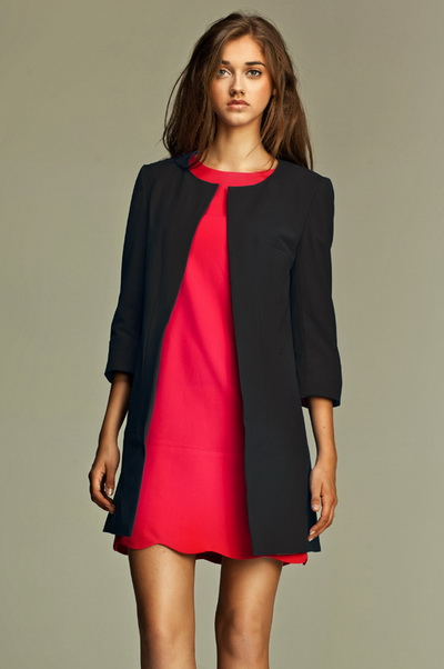 Пиджак с длинным платьем
