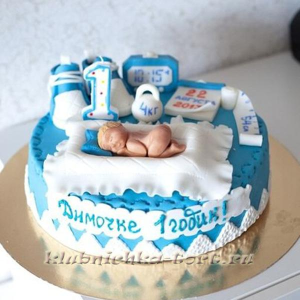 Торты на день рождения на год мальчику фото без мастики