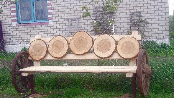 Деревянные поделки для дачи сада двора