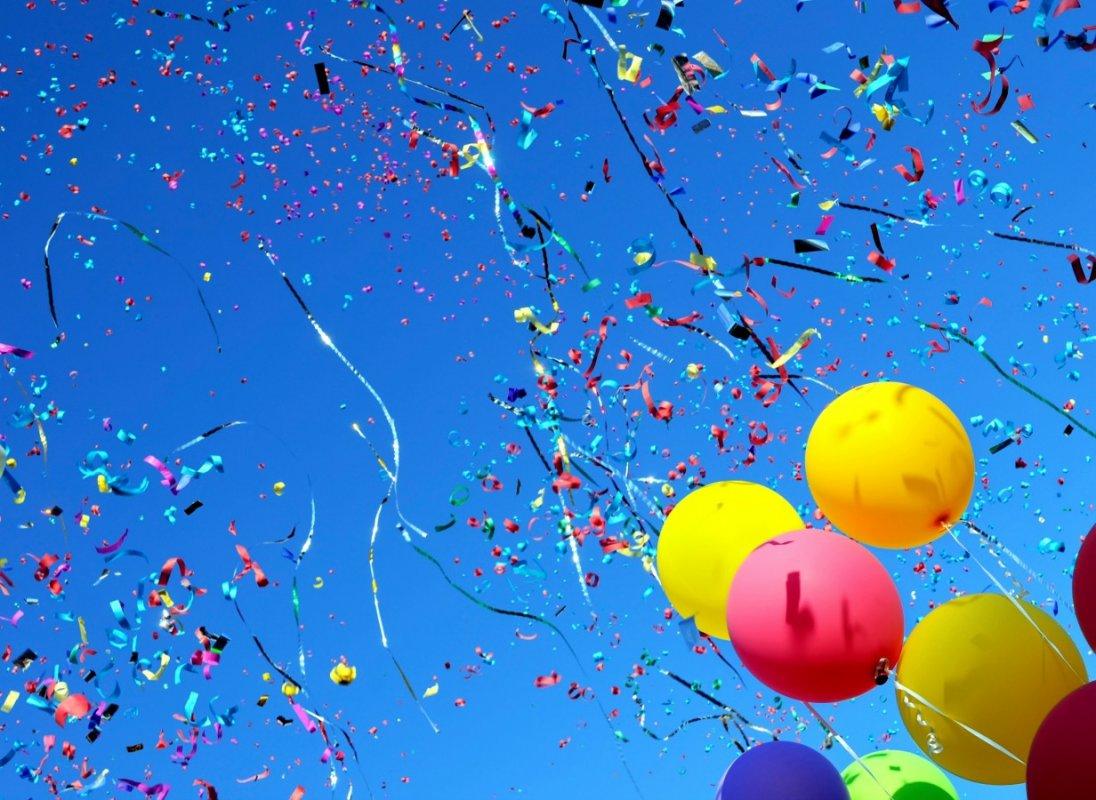 Летающие поздравления шары