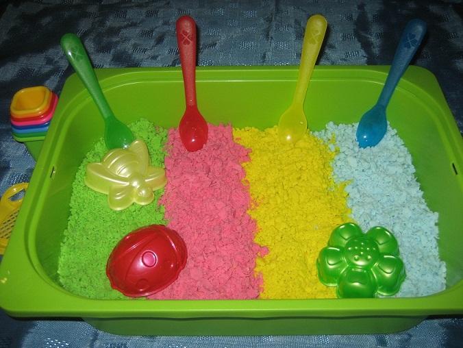Живой песок как сделать дома
