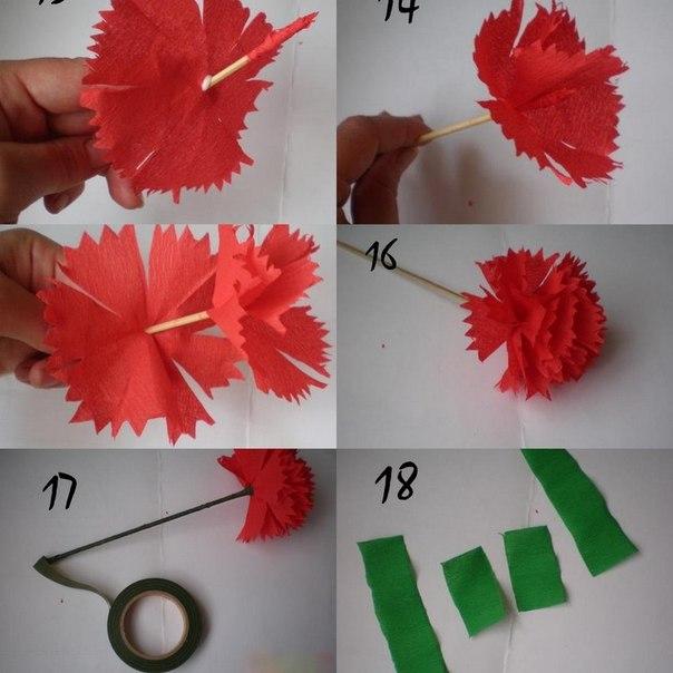 Как из материала сделать гвоздику из