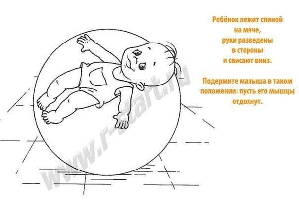 Упражнения на мяче для грудничков с рождения до 6 месяцев - Статьи ... | 431x604