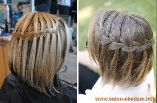 Прическа с резинками на средние волосы