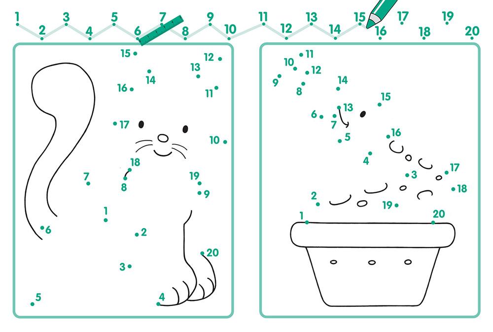 Нарисованные картинки по цифрам математические
